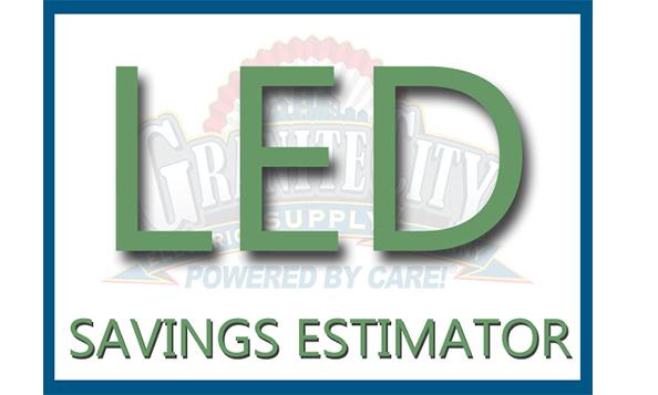 led savings estimator for common commercial lighting fixtures gce tv