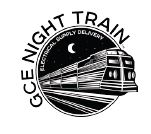 night train logo black and white